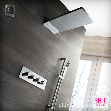 HIDEEP Wall Mounted Termostática Chuva Set Faucet Do Chuveiro
